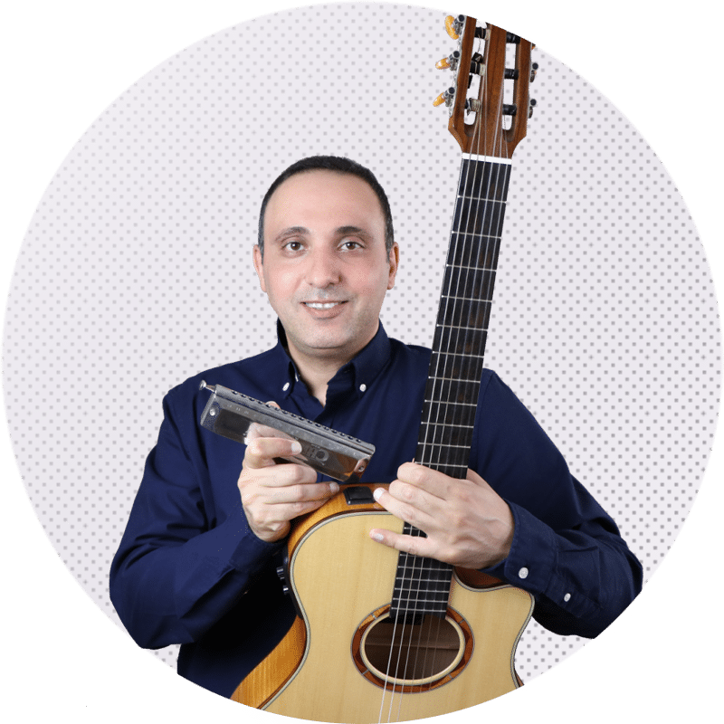 Online Music Lessons - Guitar and Harmonica instructor