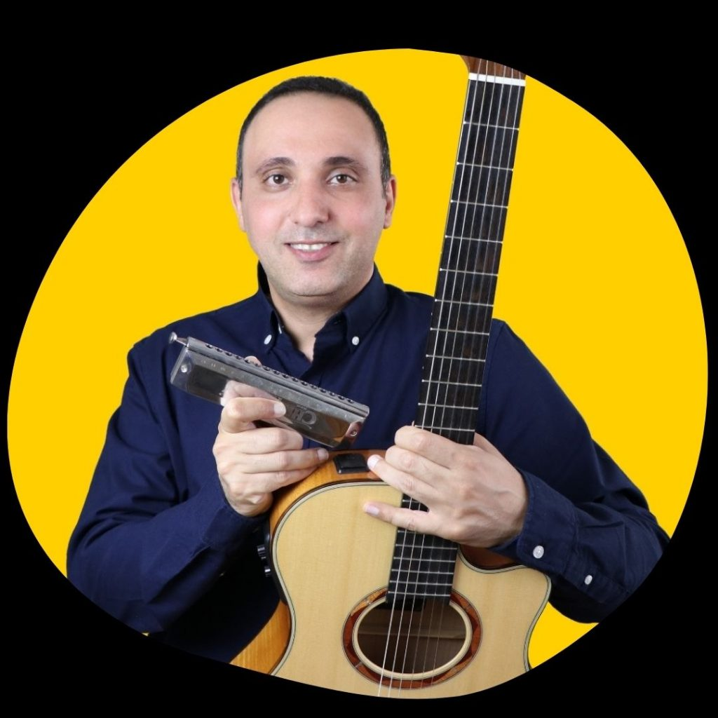guitar and harmonica lessons with Iman Rahimipour